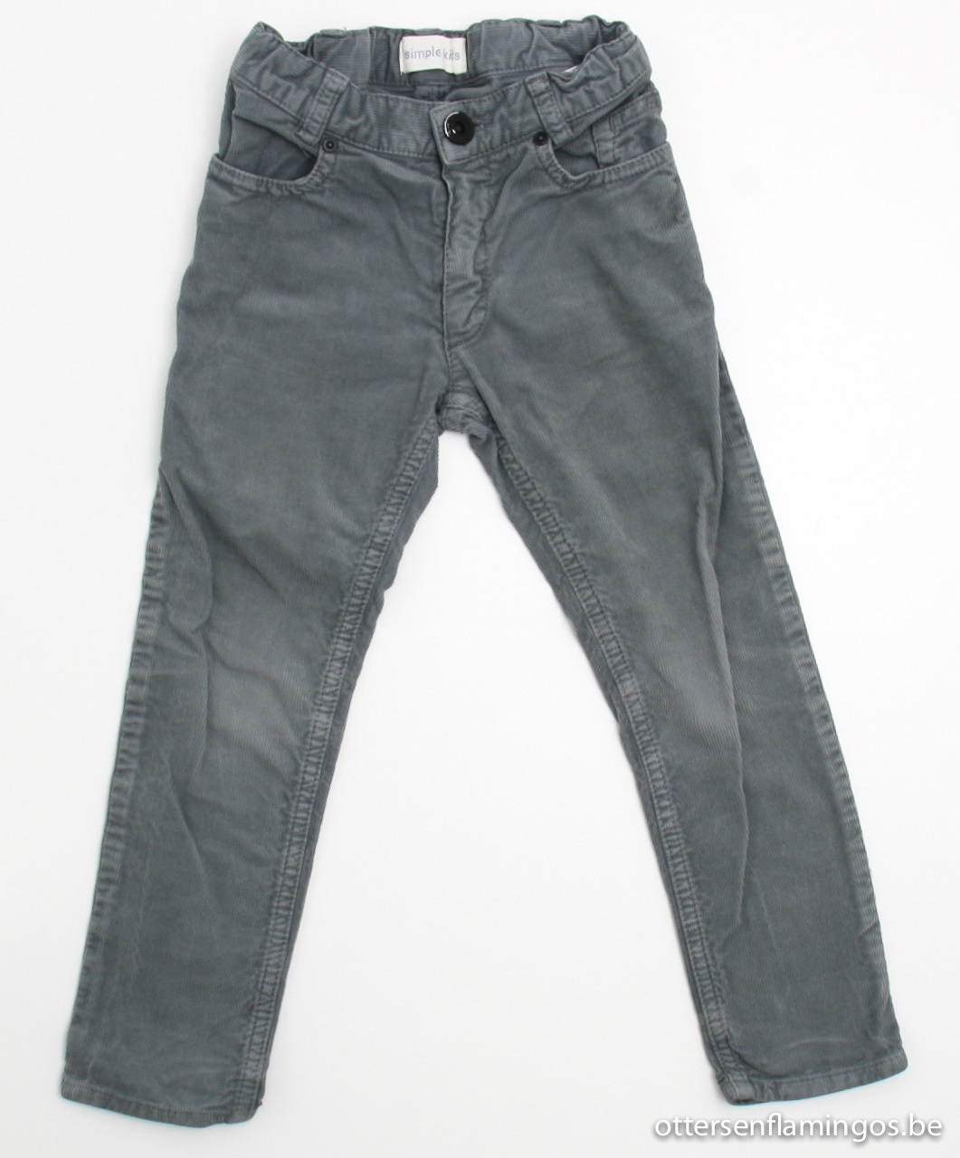 Grijze velours broek, Simple Kids, 104