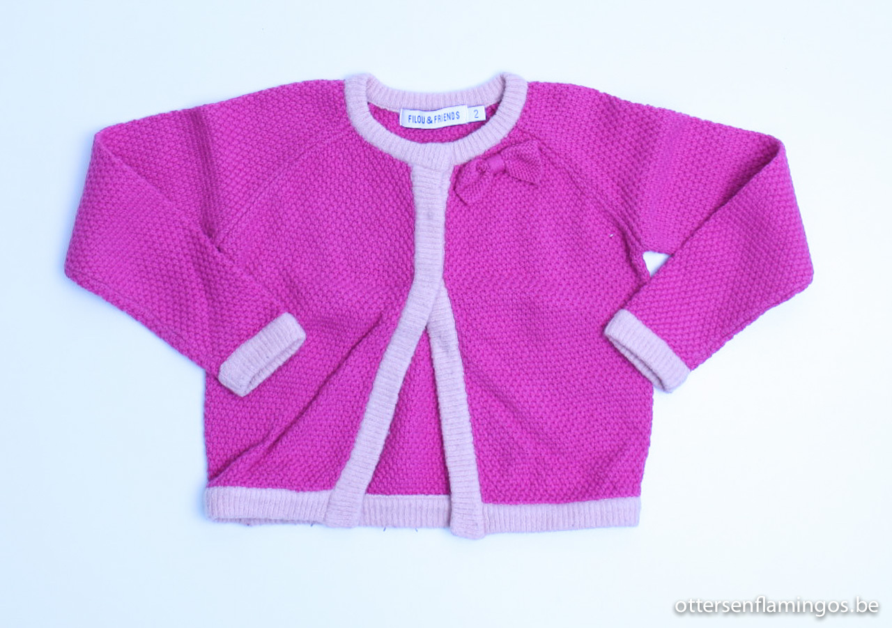 Roze cardigan, Filou en Friends - 92