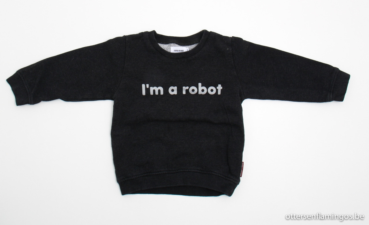 Grijze sweater robot, Filou en Friends, 98